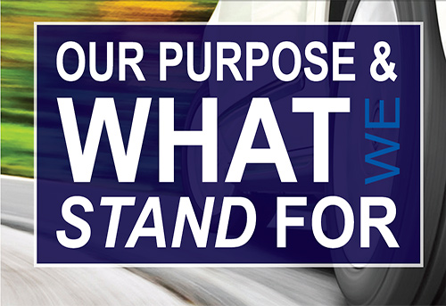 our purpose and what we stand for