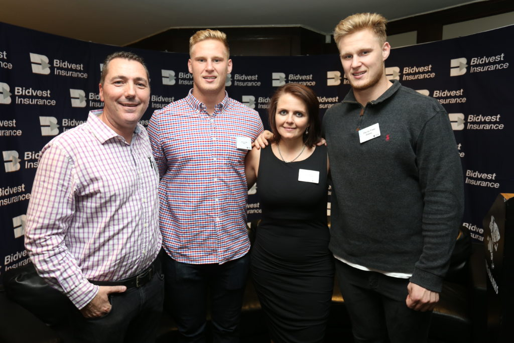 Phillip Donnelly and Hanri Pretorious of Bidvest Insurance with Jean-Luc and Daniel du Preez