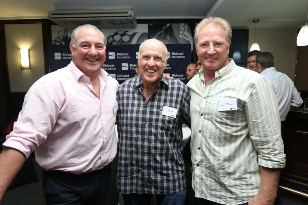 Gary Gold, Ian McIntosh and Dick Muir, enjoying themselves at the event