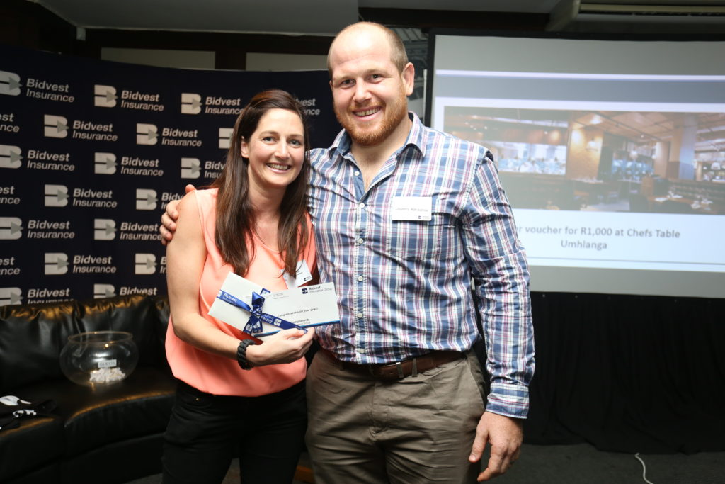 Lourens Adriaanse won vouchers for a meal at the Chefs Table