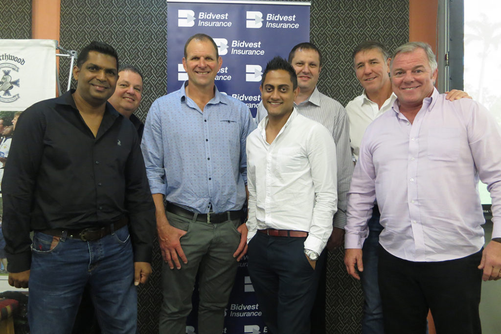 Devan Pillay, Marius Meyer, John Plumtree, Imthiaz Yacoob, Martin Grove, Gary Teichmann and John Allan