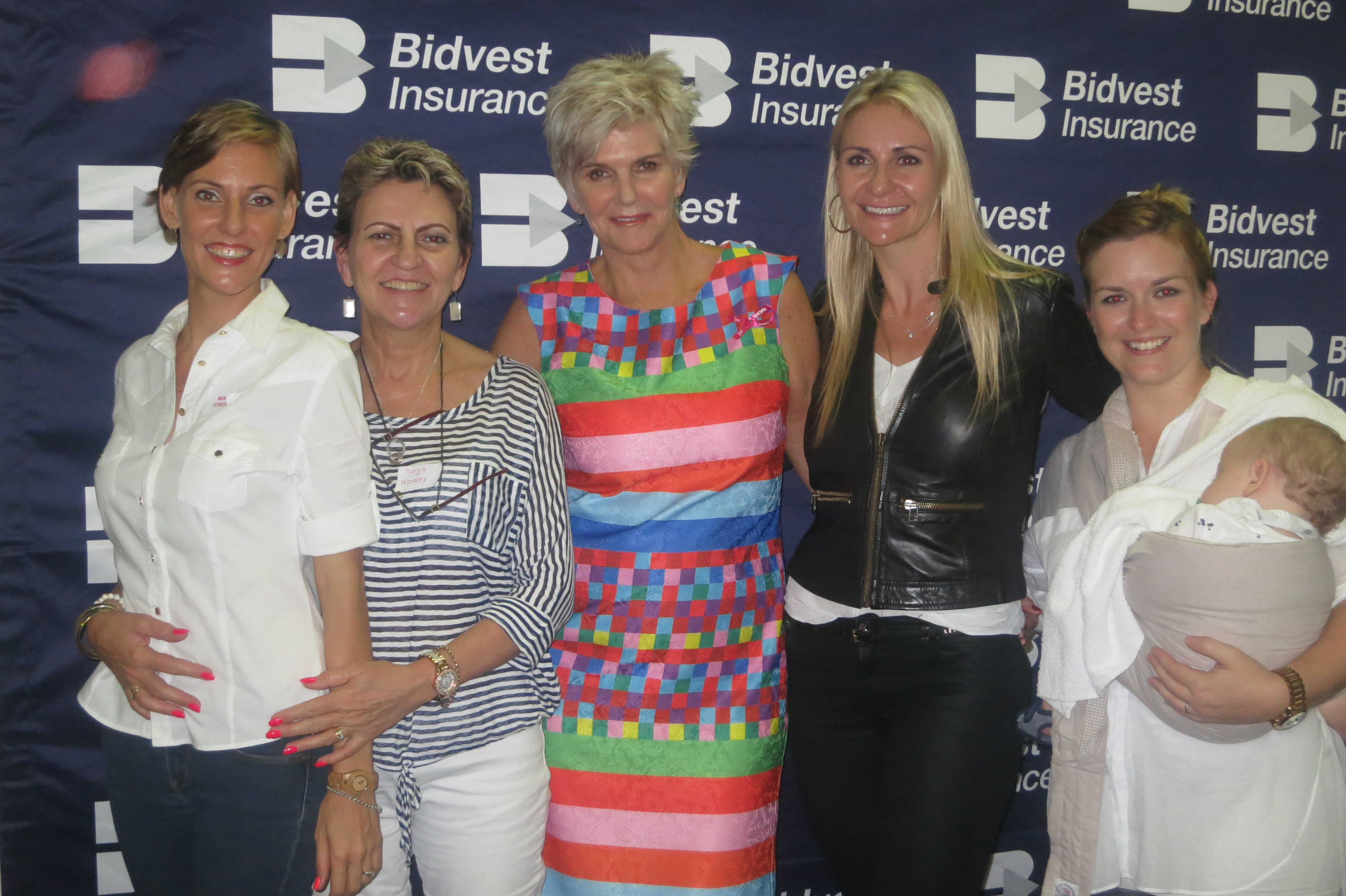 Mandy Cremer, Sonja Hartley, PJ-Powers, Lize Blignaut and Ashleigh and Kingsley Hulley