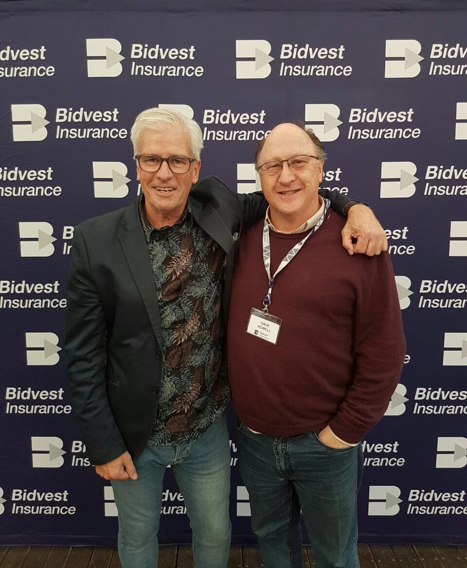 Guest speaker David Grier with Dave Howell